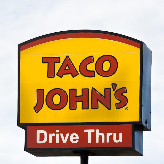 Taco John's exterior and sign.