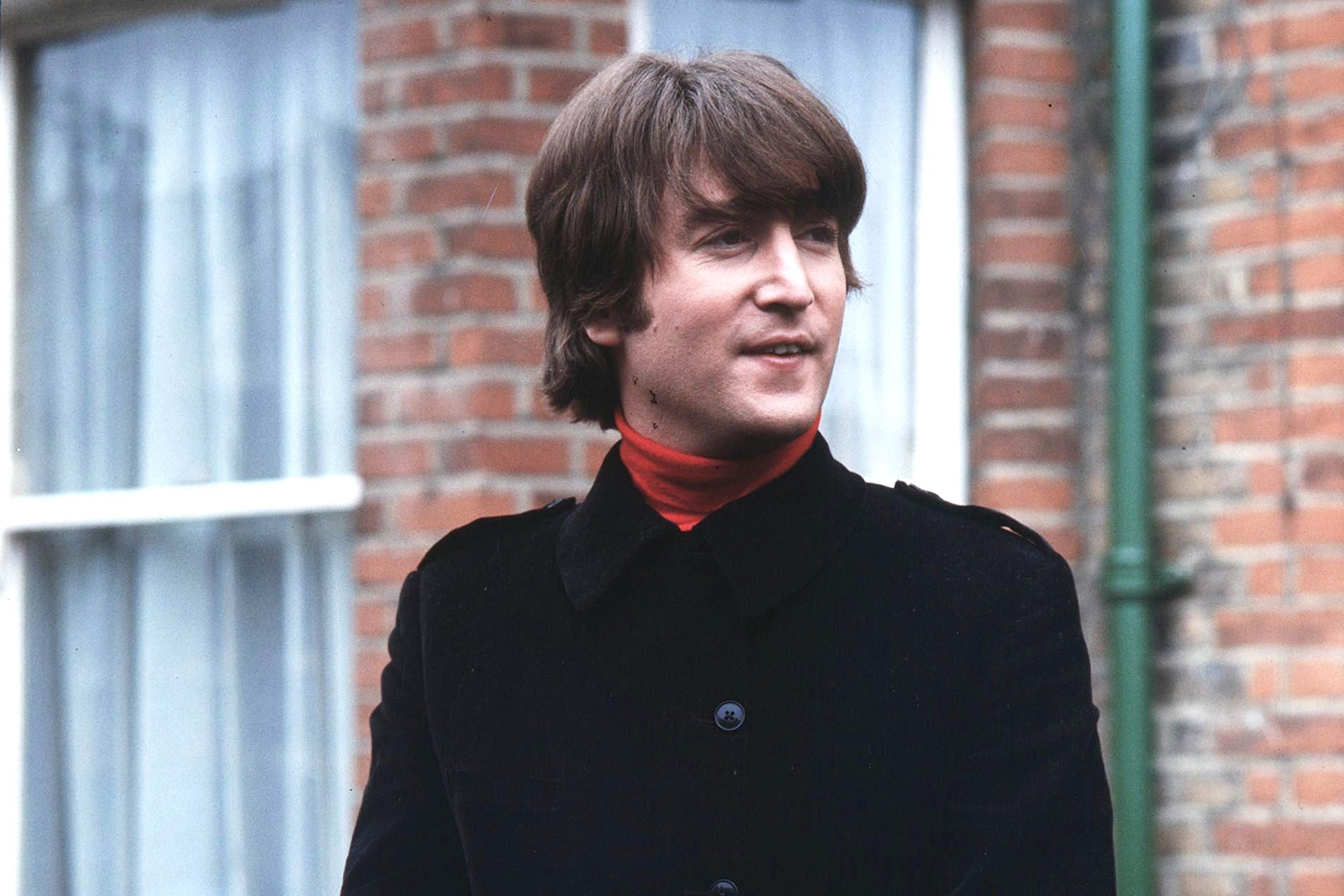 Mandatory Credit: Photo by Pierluigi Praturlon/Shutterstock (11453b) John Lennon in Ailsa Avenue, Twickenham The Beatles Filming 'Help' - 1965