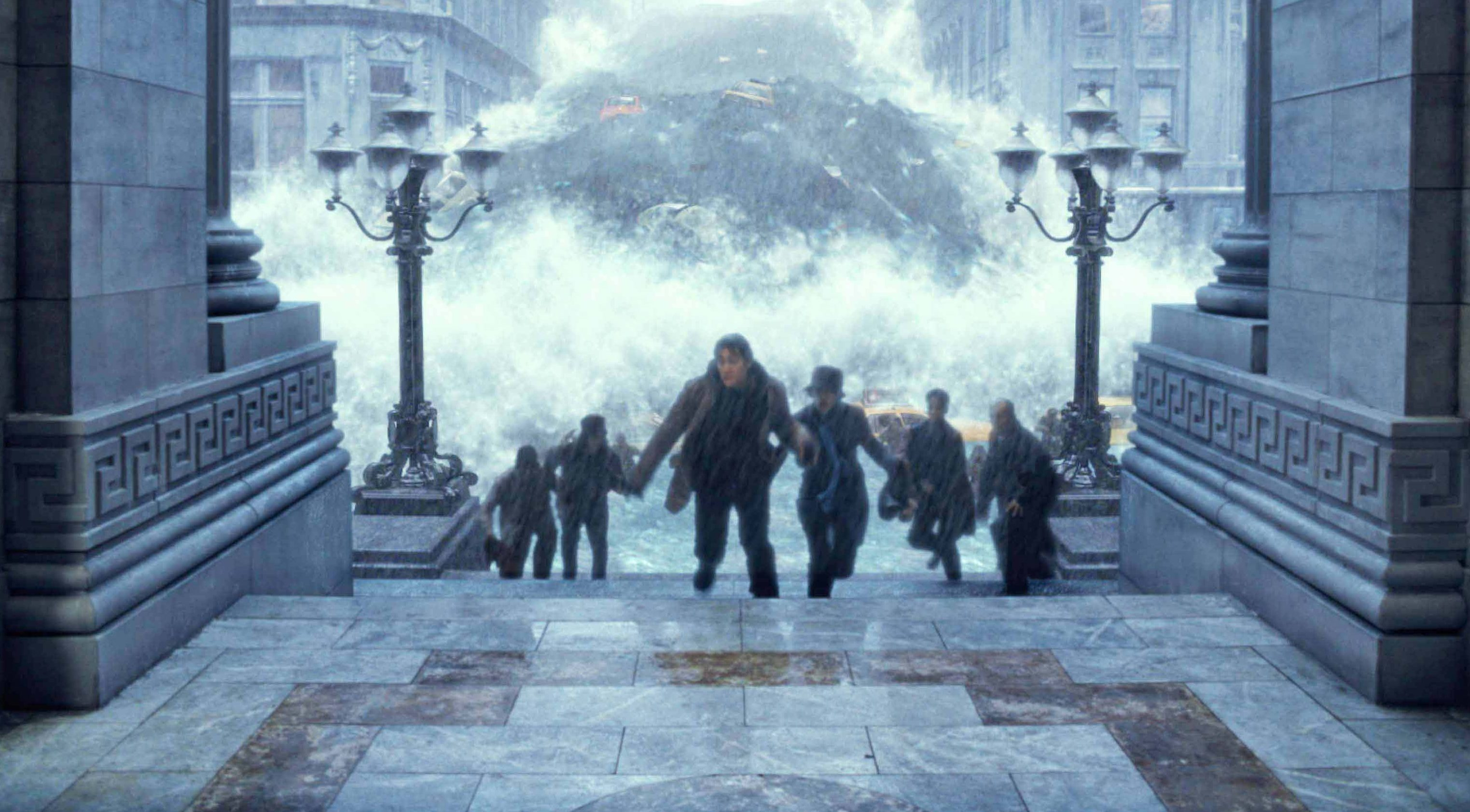 Editorial use only. No book cover usage. Mandatory Credit: Photo by 20th Century Fox/Kobal/Shutterstock (5885115ac) The Day After Tomorrow (2004) The Day After Tomorrow - 2004 Director: Roland Emmerich 20th Century Fox USA Scene Still Scifi Le Jour d'après
