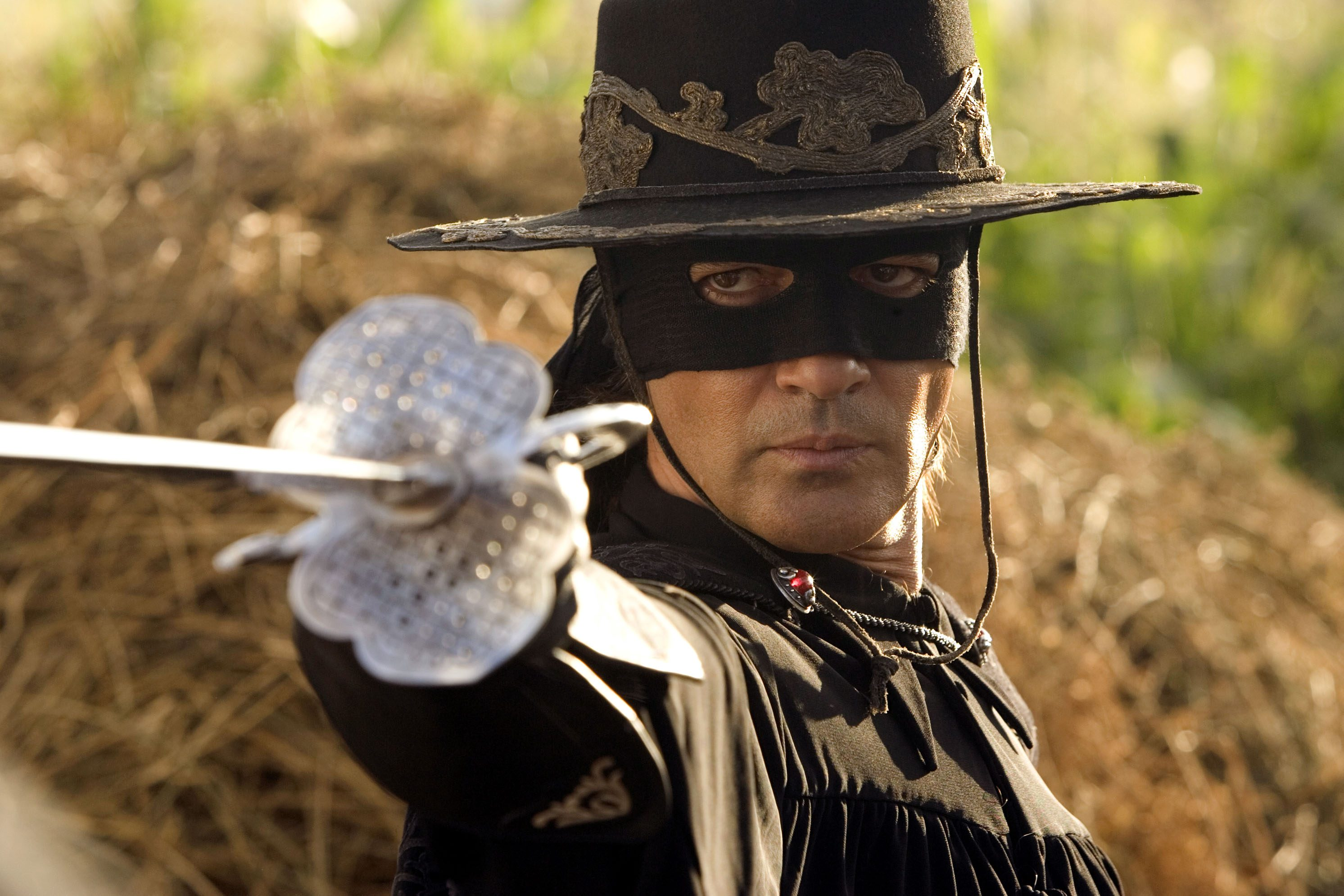 Editorial use only. No book cover usage. Mandatory Credit: Photo by Snap Stills/Shutterstock (2055073d) Antonio Banderas The Legend of Zorro - 2005