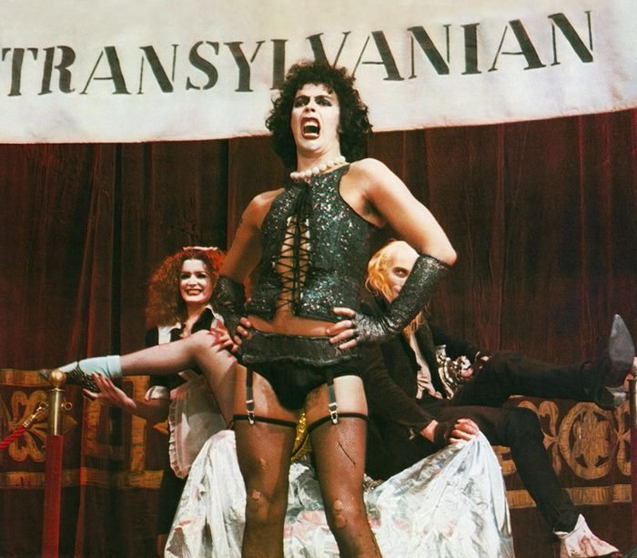 Editorial use only. No book cover usage. Mandatory Credit: Photo by 20th Century Fox/Michael White Prods/Kobal/Shutterstock (5885245ao) Tim Curry The Rocky Horror Picture Show - 1975 Director: Jim Sharman 20th Century Fox/Michael White Productions USA Scene Still Musical