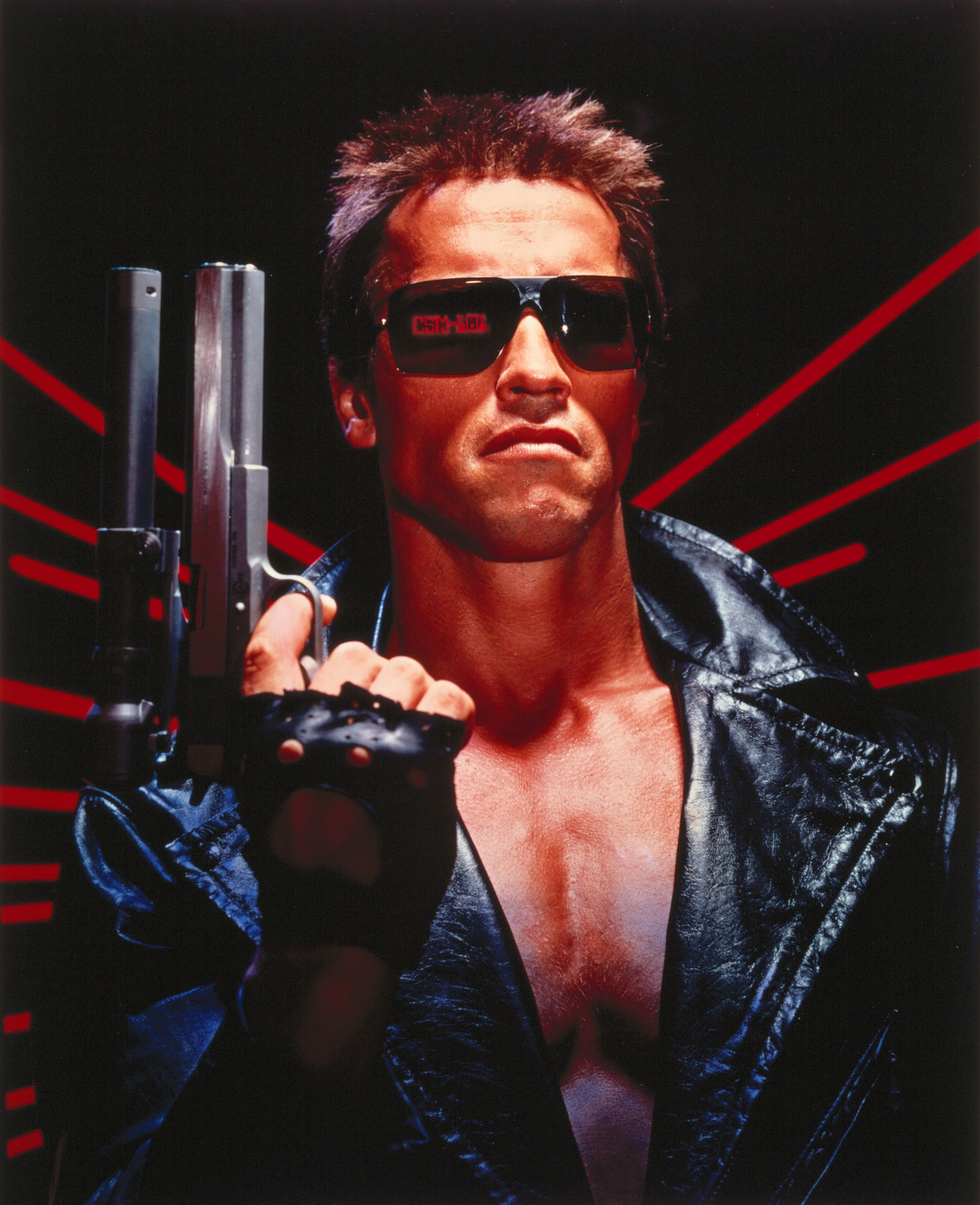 Editorial use only. No book cover usage. Mandatory Credit: Photo by Orion/Kobal/Shutterstock (5885649am) Arnold Schwarzenegger The Terminator - 1984 Director: James Cameron Orion USA Film Portrait Action/Adventure Terminator