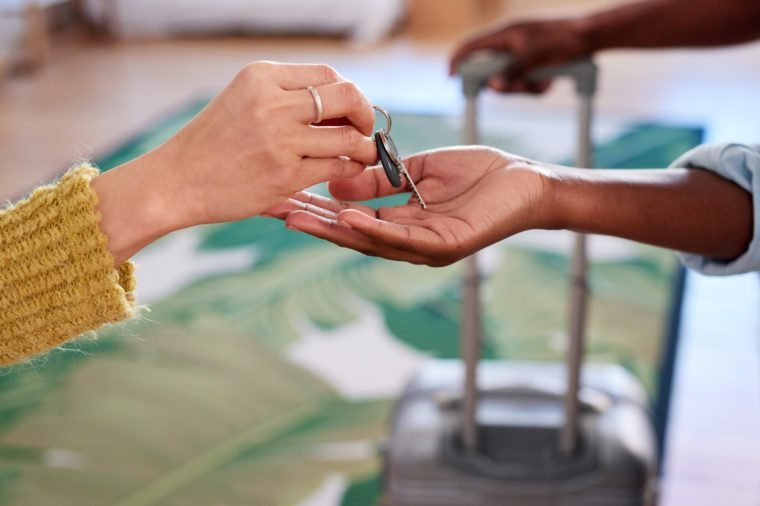 Holiday accommodation rental keys for apartment