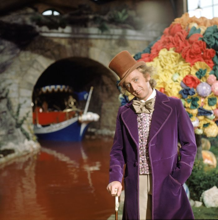 Editorial use only. No book cover usage. Mandatory Credit: Photo by Wolper/Warner Bros/Kobal/Shutterstock (5886077ba) Gene Wilder Willy Wonka and The Chocolate Factory - 1971 Director: Mel Stuart Wolper/Warner Bros USA Scene Still Willy Wonka au pays enchanté
