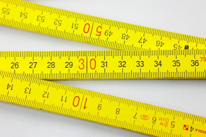 folding rule - metering measurement tool to cave out