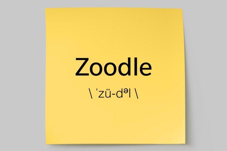 zoodle sticky note