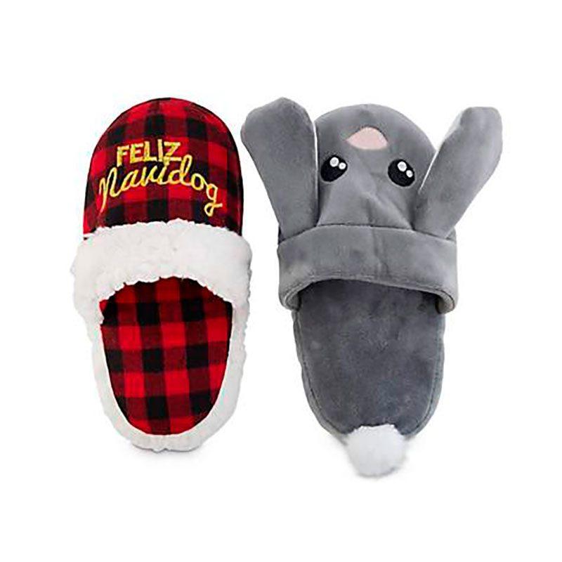 feliz navidog slippers