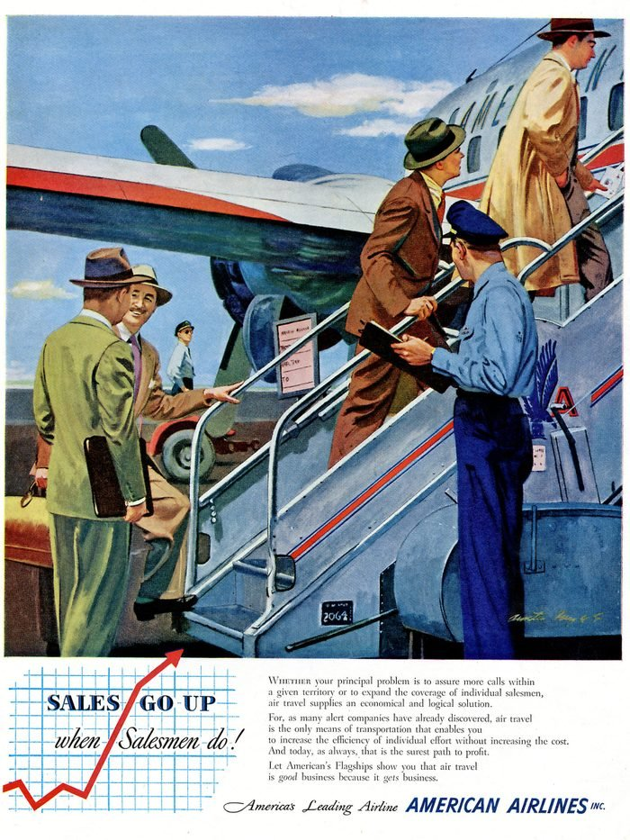 American airlines ad vintage travel Reminisce