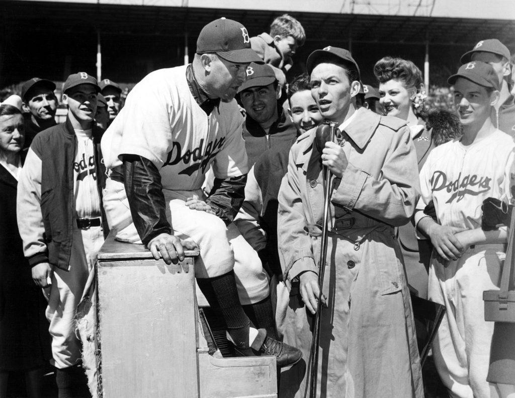 frank sinatra dodgers baseball vintage photo