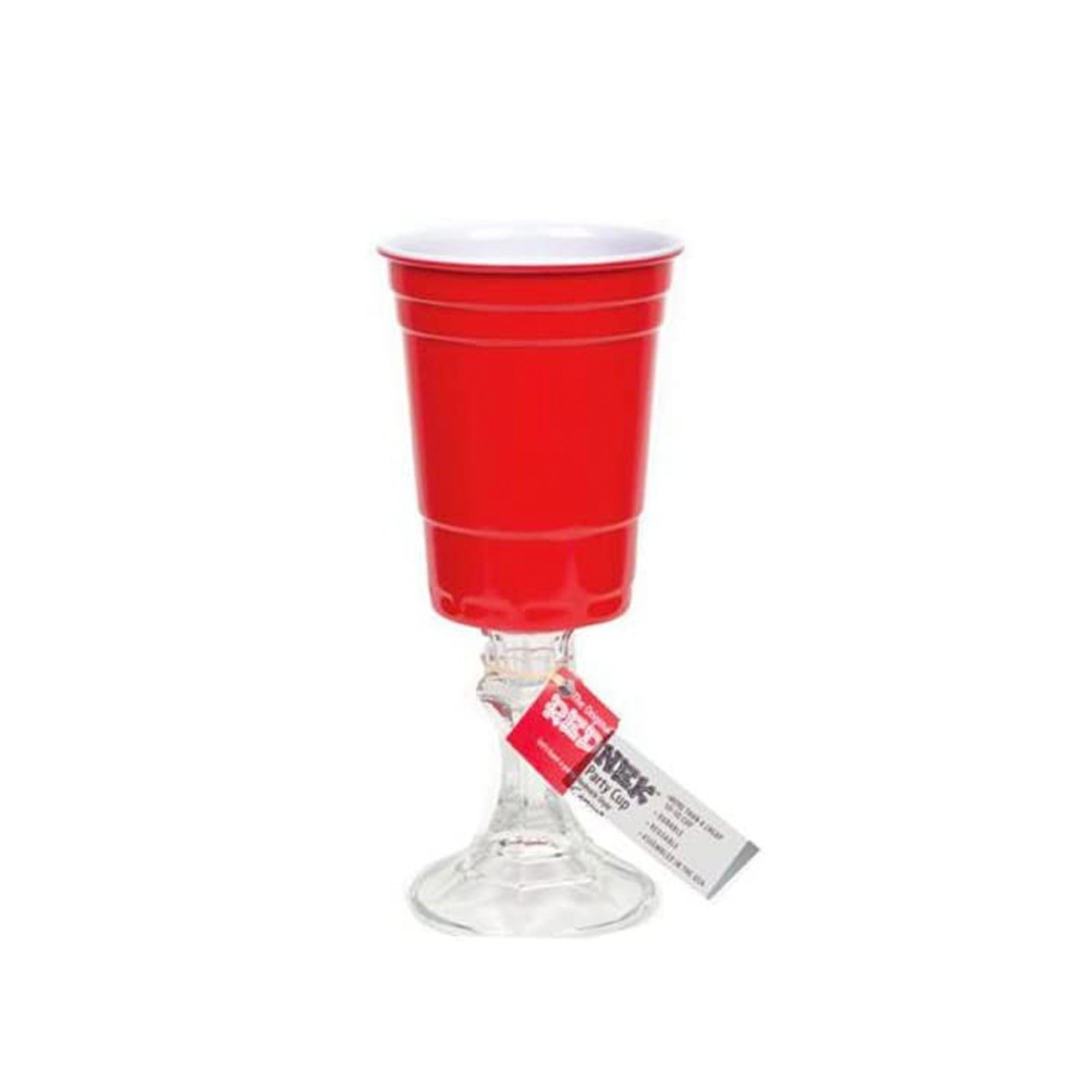 Red Cup Stemmed Wine Glasses
