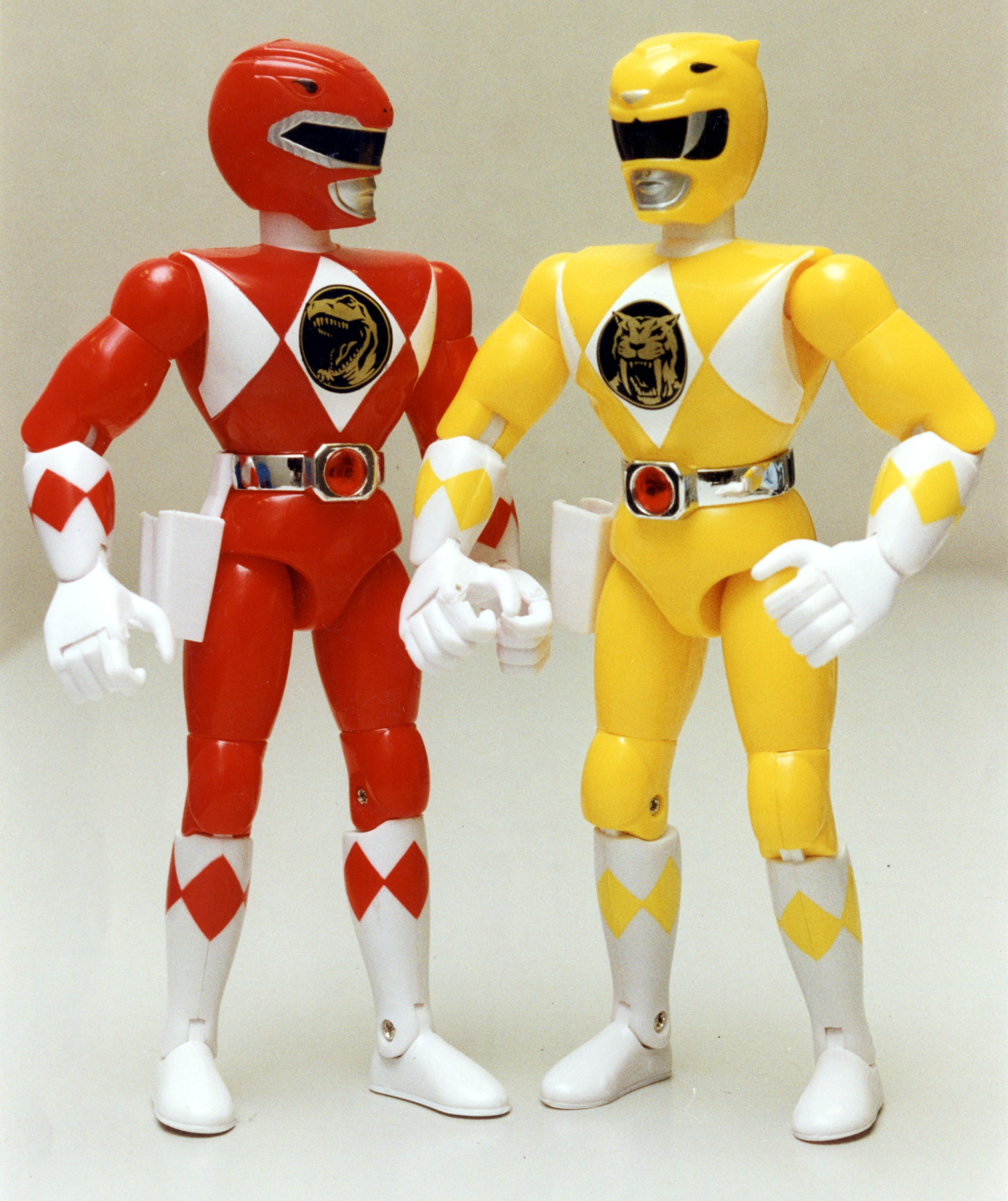 Mandatory Credit: Photo by Daily Mail/Shutterstock (3035501a) Power Rangers Toy Action Figures 1994. Power Rangers Toy Action Figures 1994.