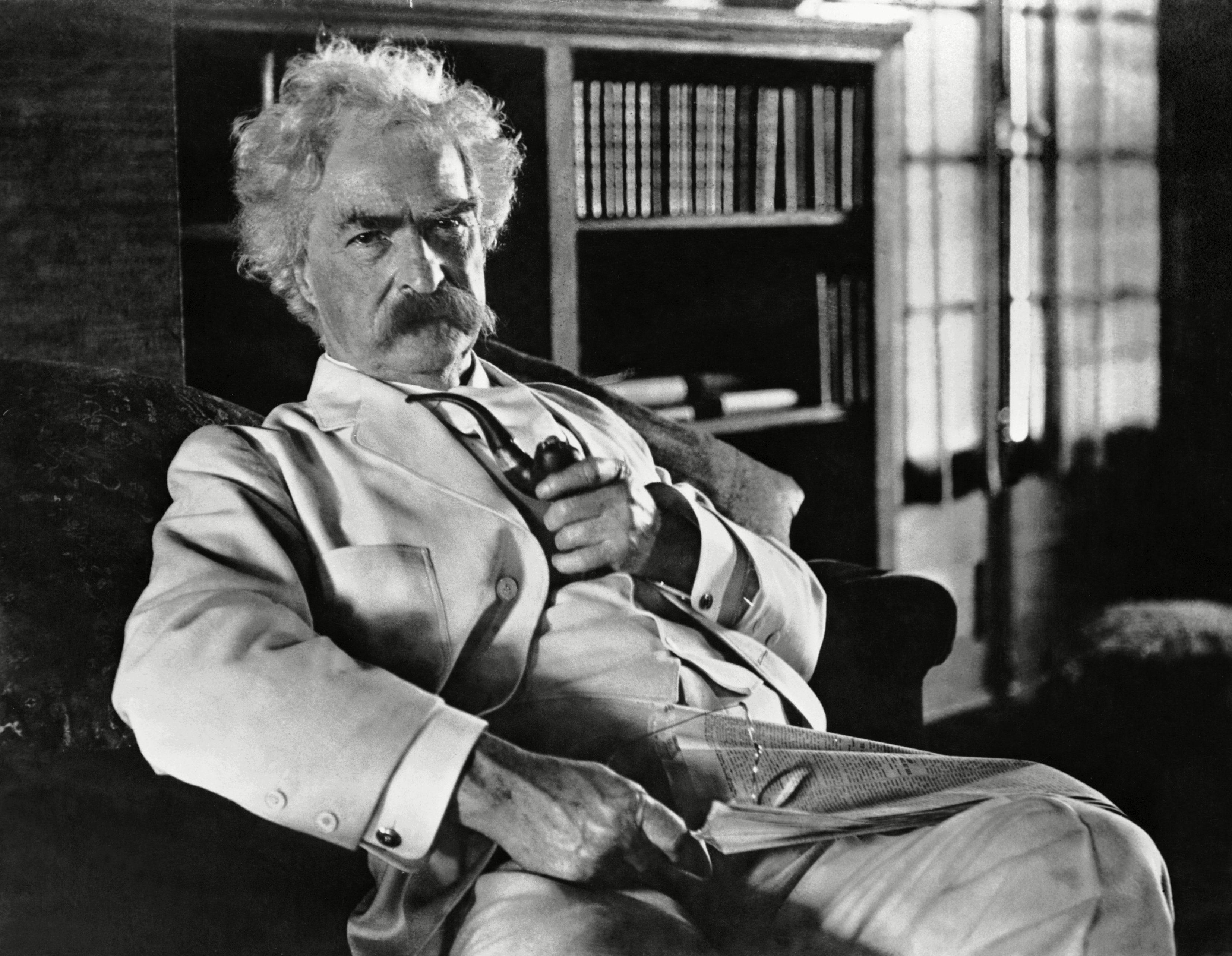 Mandatory Credit: Photo by Ewing Galloway/Uig/Shutterstock (3799656a) Novelist Mark Twain VARIOUS