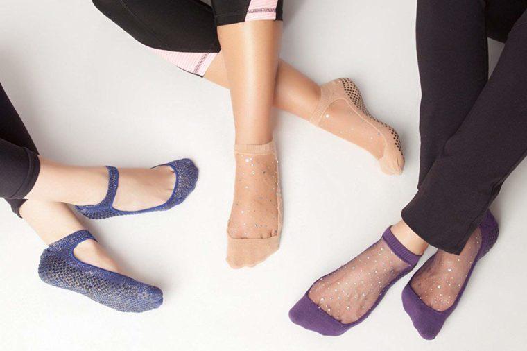 shashi star glitter mesh socks holiday gift