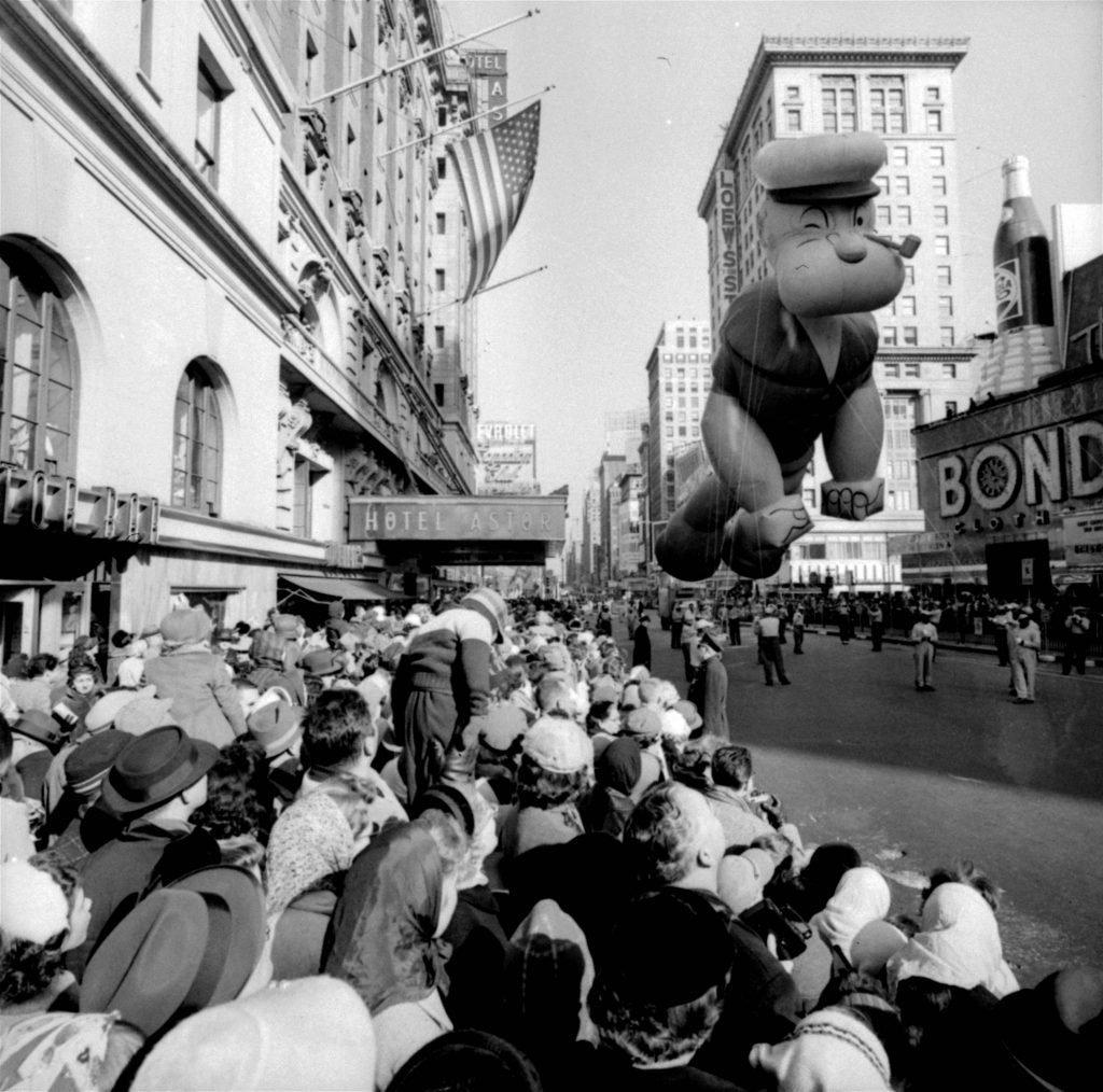 Macy's Thanksgiving Day Parade popeye float