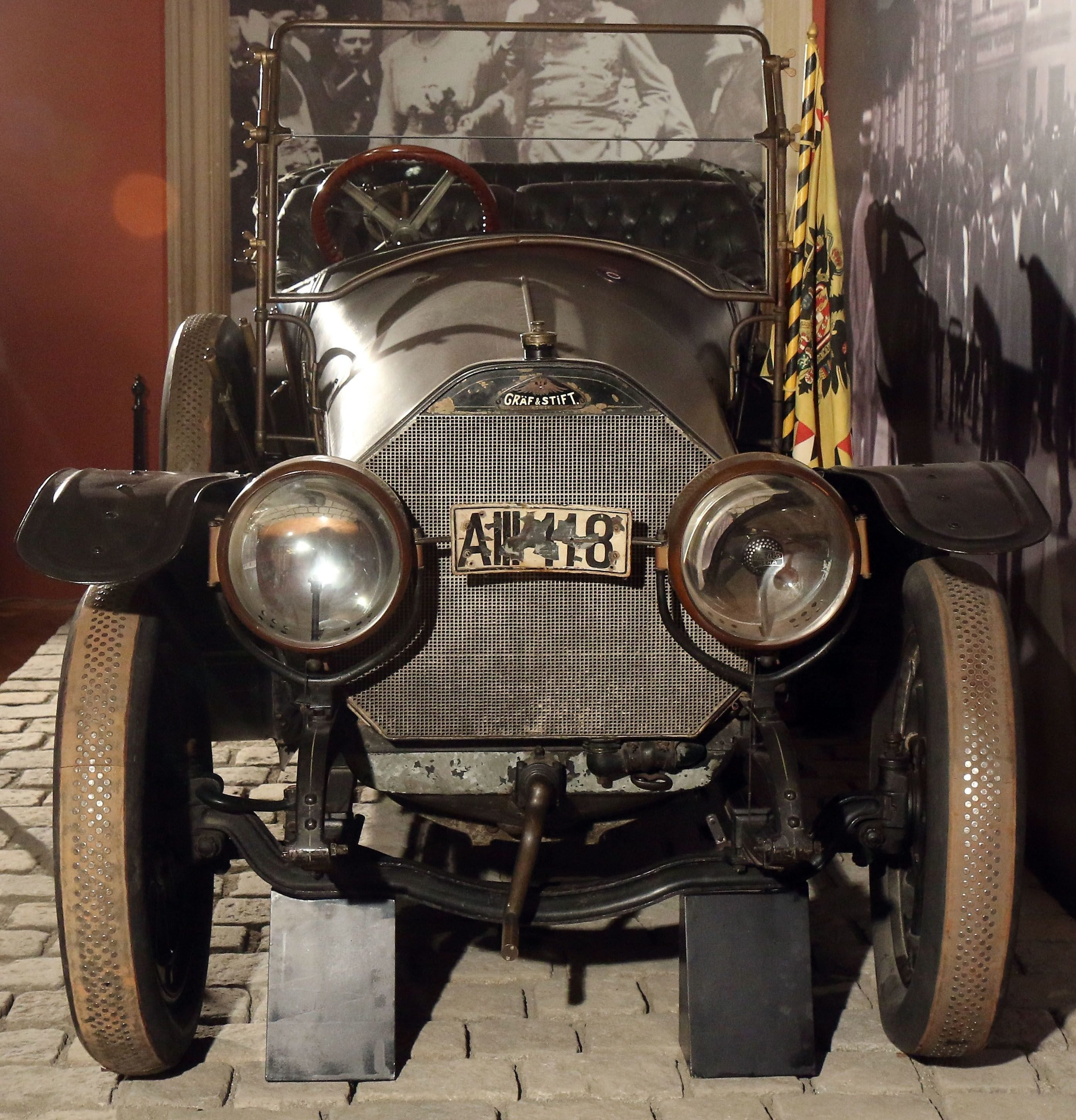 Mandatory Credit: Photo by Ronald Zak/AP/Shutterstock (6763899q) The car in where Austrian Archduke Franz Ferdinand and his wife Sophie were shot to death is on display at the Museum of Military History in Vienna, Austria, on . Archduke Franz Ferdinand and his wife Sophie were assassinated in Sarajevo on June 28, 1914, an event which led to the outbreak of World War I Austria Archduke Assassination WWI, Vienna, Austria