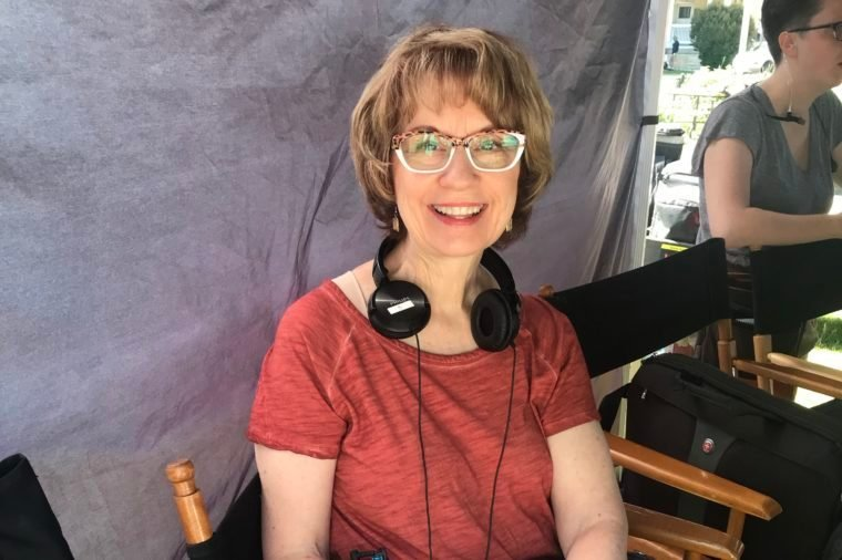 barbara hinske on set of the christmas club hallmark movie