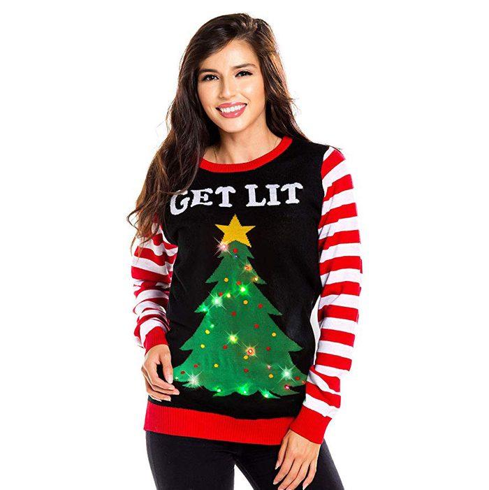 get lit sweater