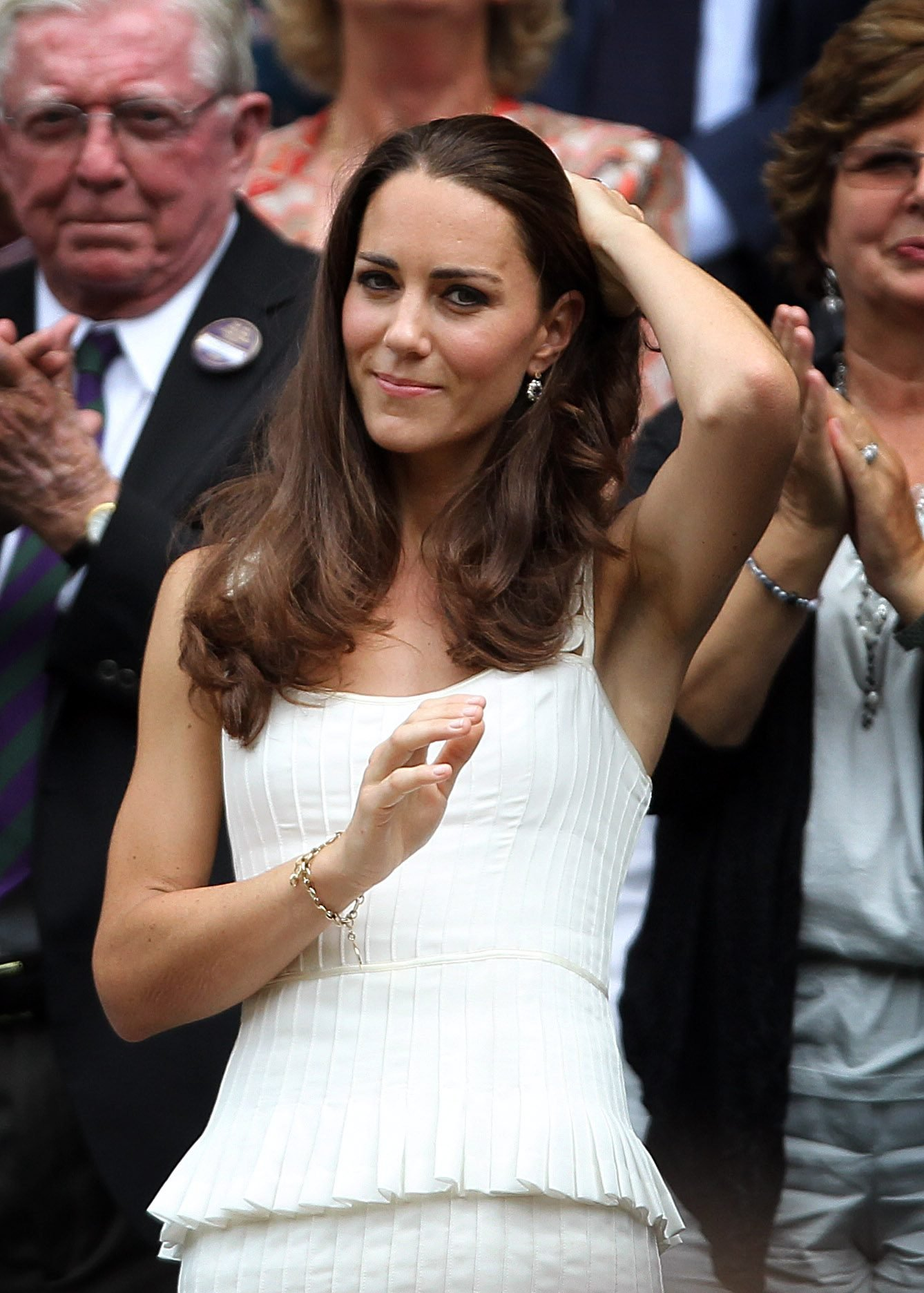 Mandatory Credit: Photo by Ian MacNicol/Shutterstock (7442708b) Tennis - Wimbledon Championships - Day 7 Kate Middleton visits centre court to watch Andy Murray play Richard Gasquet during the seventh day of the Wimbledon Championships UK London Kate Middleton