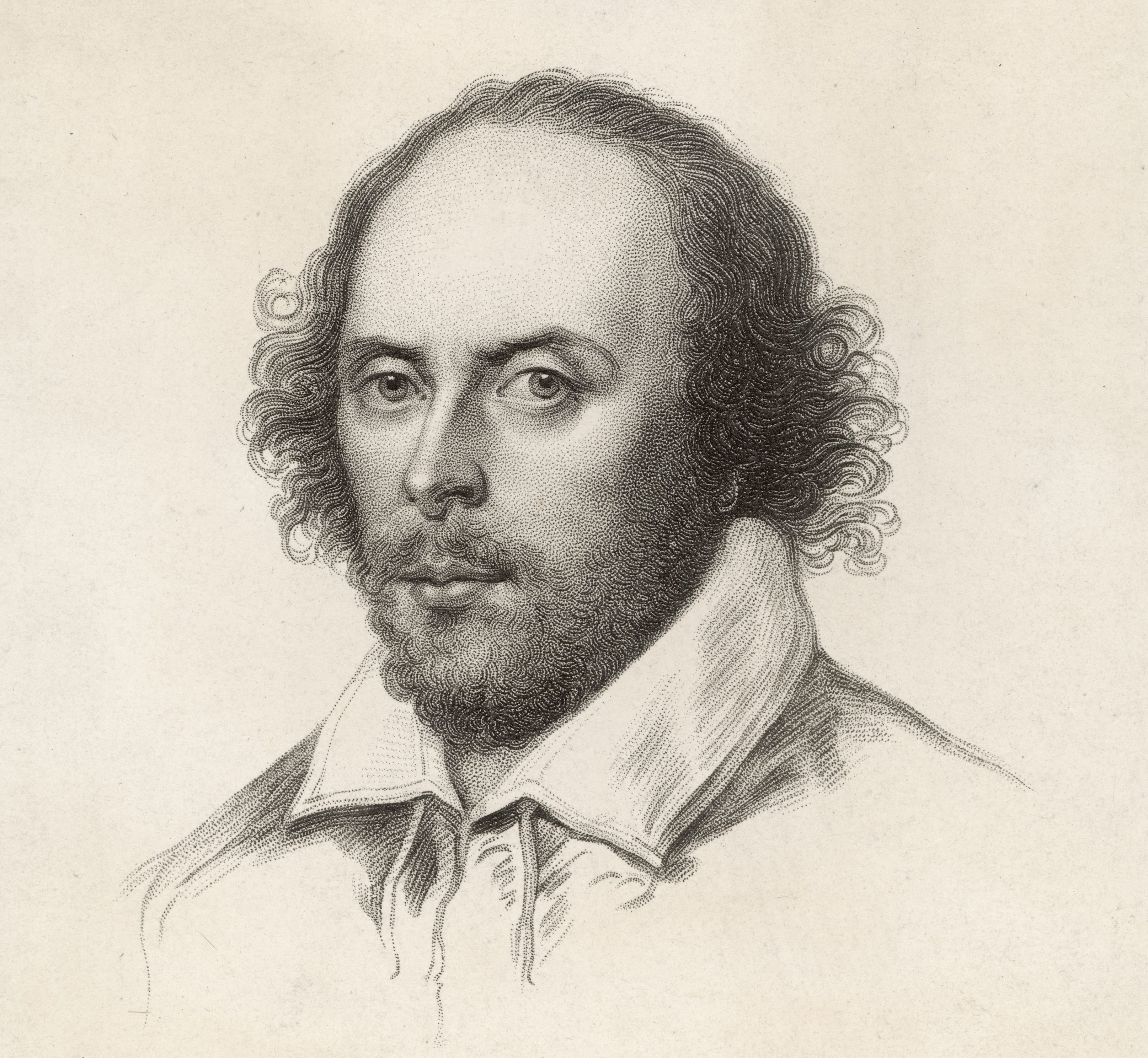 Mandatory Credit: Photo by Historia/Shutterstock (7665088ny) William Shakespeare (1564 - 1616) English Playwright and Poet 'Cut-out' Portrait Historical Collection 22