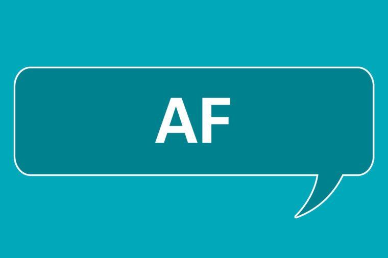 slang words AF