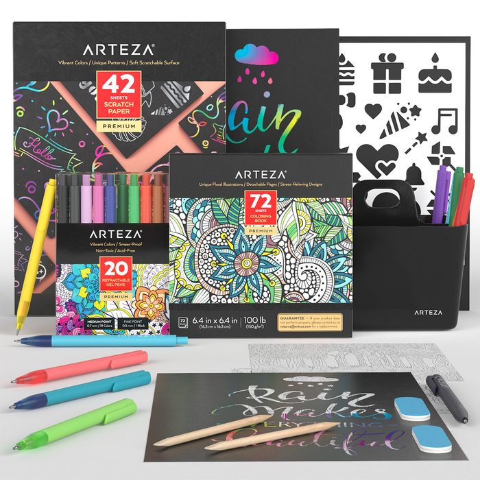 Arteza Scratch And Color Bundle