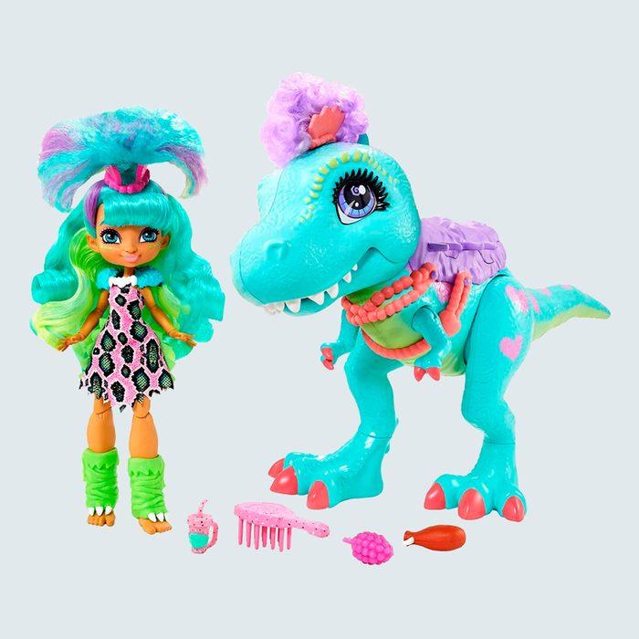Cave Club Rockelle Doll and Tyrannosaurus Dinosaur Pal Playset