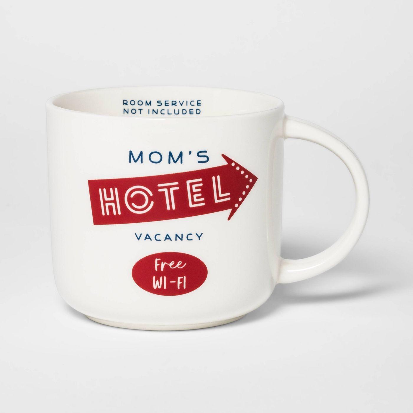 moms hotel mug