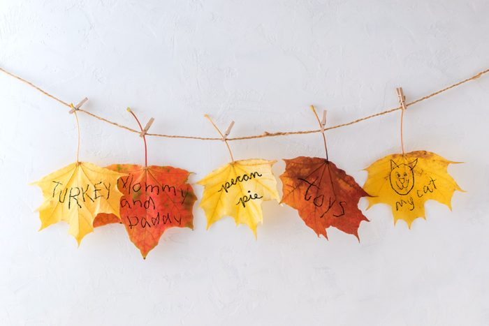 gratitude leaf garland