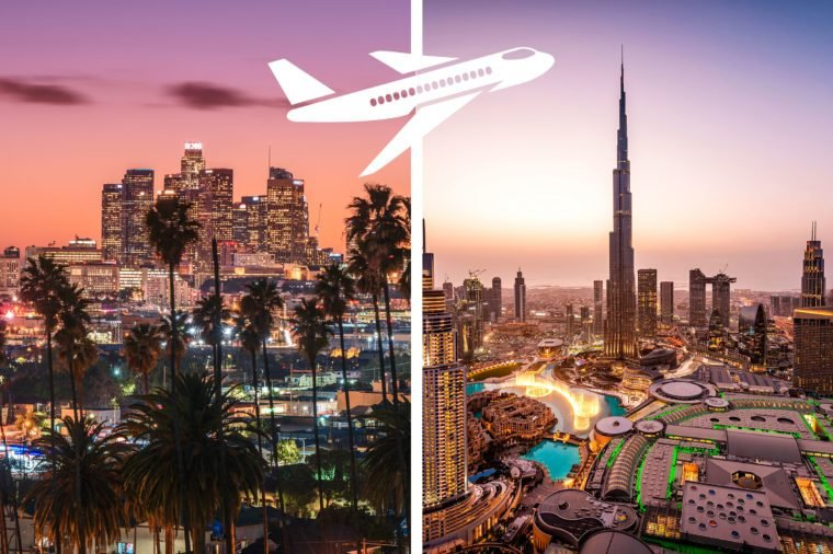 los angeles to dubai most expensive flights