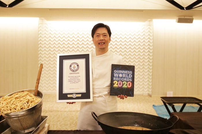 longest egg noodle world record