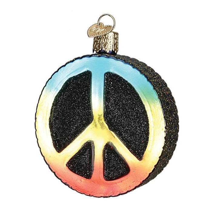 Old World Christmas Peace Sign Ornament