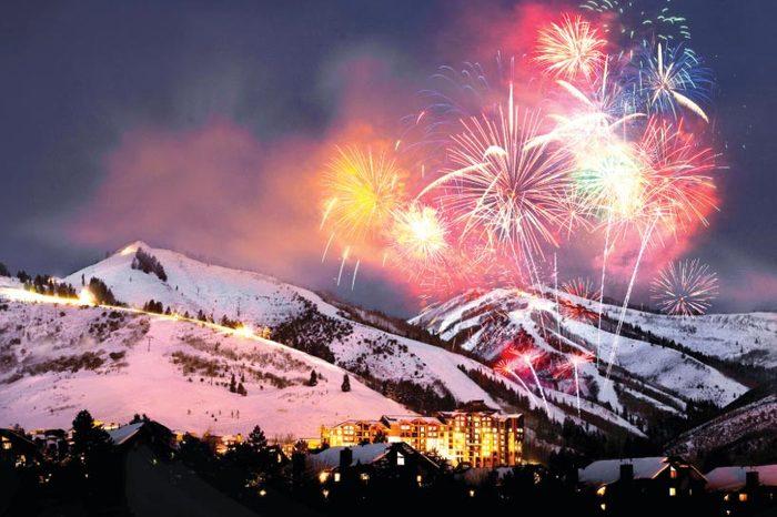 Fireworks over park city utah