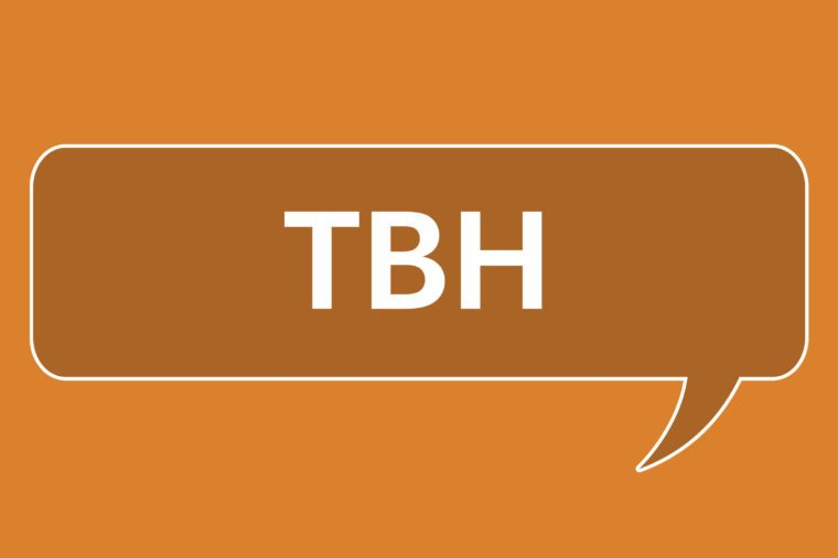 slang words tbh