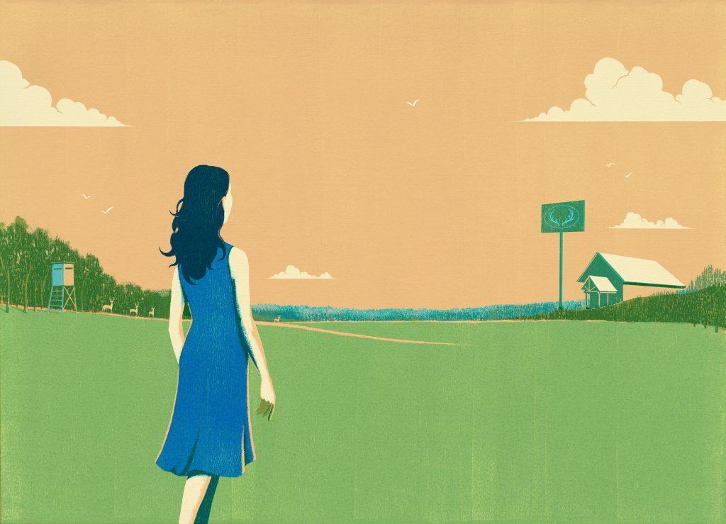 Illustration by Dan Bejar or a woman gazing across a field
