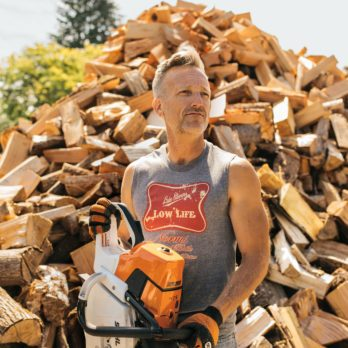 This Family Keeps Their Community Warm by Chopping Firewood for Those in Need