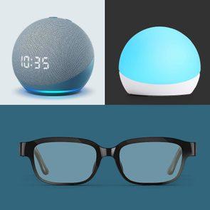 Echo Dot, Echo Glow, and Echo Frames