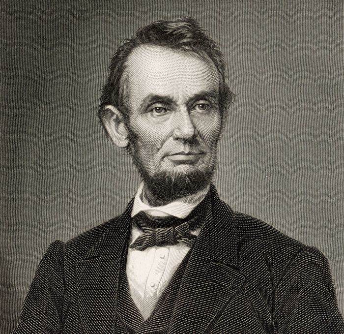 Mandatory Credit: Photo by The Art Archive/Shutterstock (5850800ax) Abraham LINCOLN 1809-65 inaugurated President of the United States in 1861during the American Civil War. He was shot by John Wilkes Booth on April 14 1865. Engraving by Charles Burt after photograph by Mathew Brady Art - various