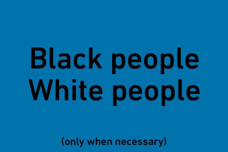 "text ""black people"" and ""white people"""