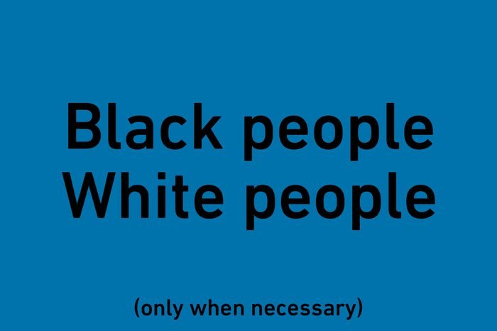 """text """"black people"""" and """"white people"""""""
