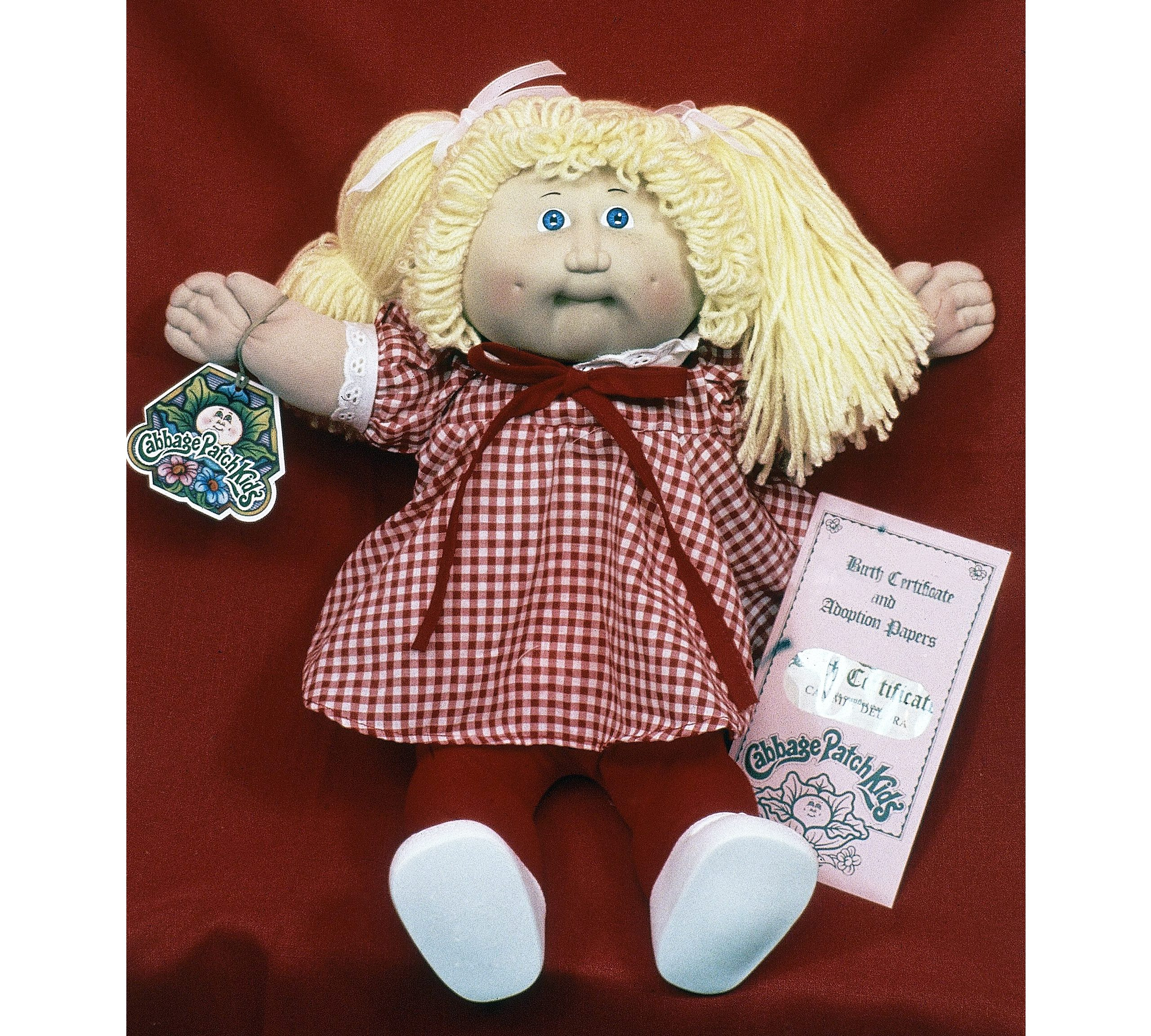 "Mandatory Credit: Photo by AP/Shutterstock (6302228b) A doll created by mountain artist Xavier Roberts, whose ""Little People"" made him a millionaire, is expanding his line to include the ""Cabbage Patch Kids"" shown at his home in Cleveland, Ohio, United States in 1983 USA Cleveland International Cabbage Patch Kid, Cleveland, USA"