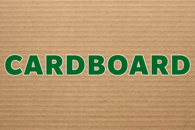 cardboard recyclable material