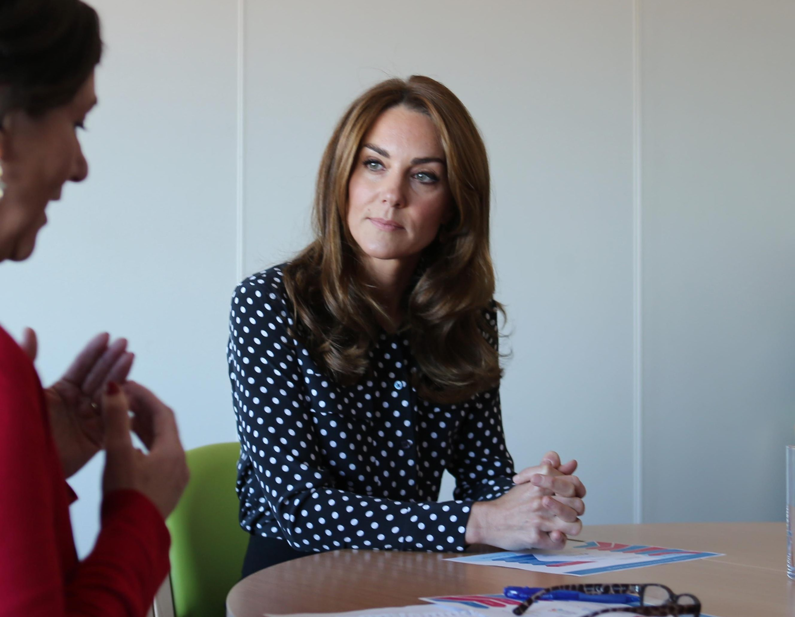Mandatory Credit: Photo by Shutterstock (10418221d) Catherine Duchess of Cambridge Catherine Duchess of Cambridge visits Sunshine House Children and Young People's Health and Development Centre, Peckham, London, UK - 19 Sep 2019 To further her research and engagement with the Early Years sector, Catherine Duchess of Cambridge will visit Sunshine House Children and Young People's Health and Development Centre to meet with the Southwark Family Nurse Partnership team and highlight the valuable work that they do.