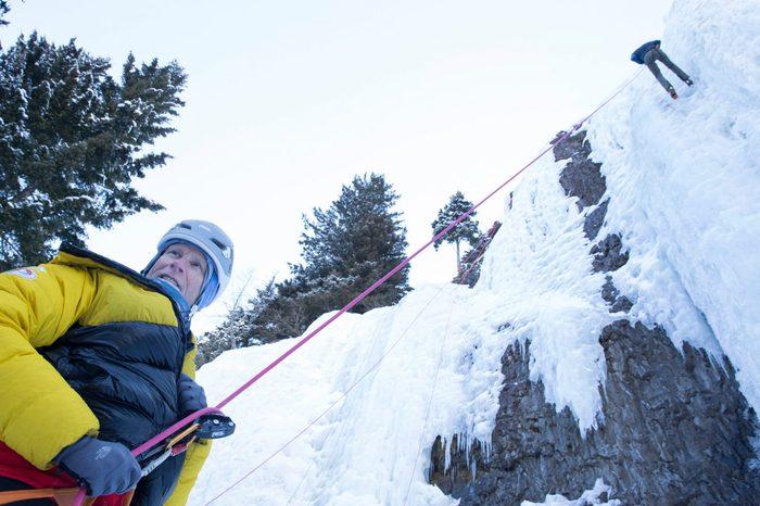 Ice climbing in Bozeman Montana