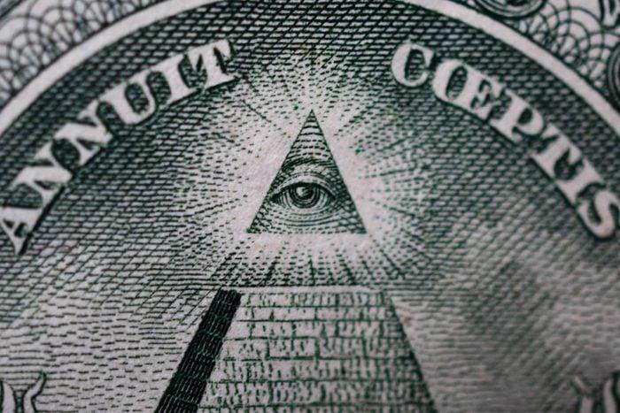 Eye Above Pyramid Dollar Bill Symbol