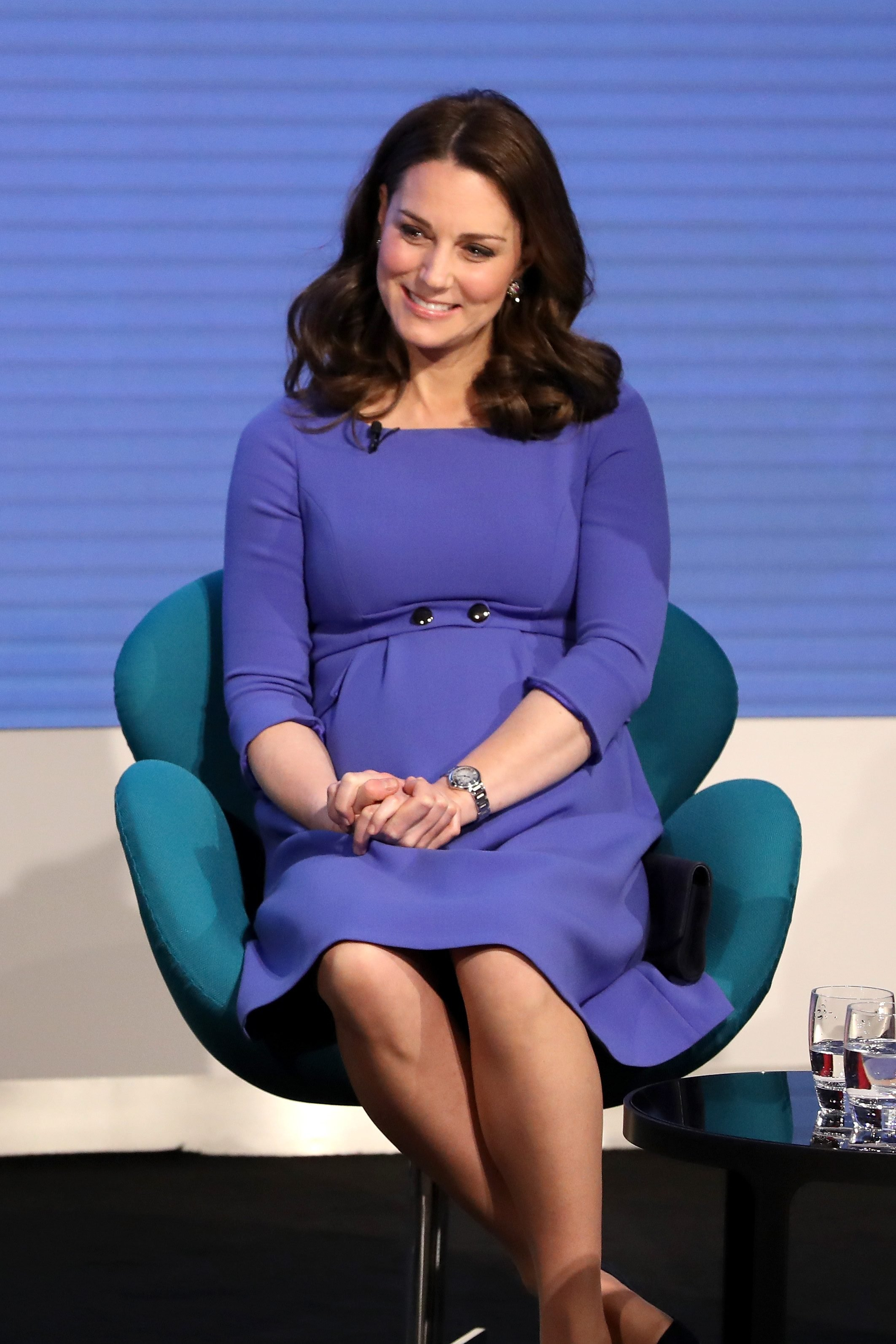Mandatory Credit: Photo by Shutterstock (9444588bb) Catherine Duchess of Cambridge First Annual Royal Foundation Forum, London, UK - 28 Feb 2018 Under the theme 'Making a Difference Together', the event will showcase the programmes run or initiated by The Royal Foundation. WEARING SERAPHINE