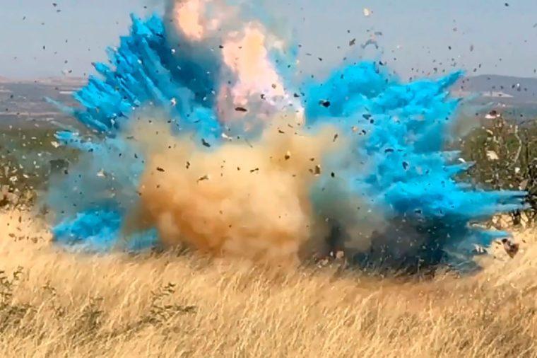 gender reveal forest fire explosion
