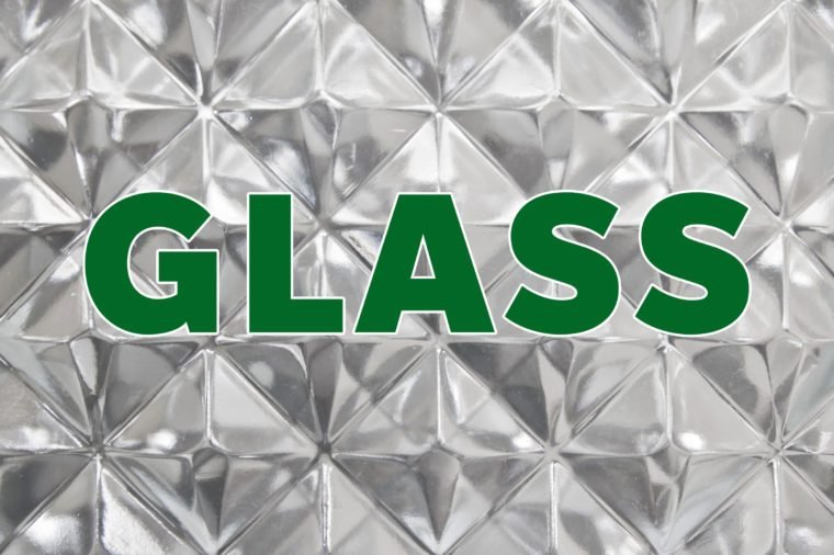 glass recyclable material