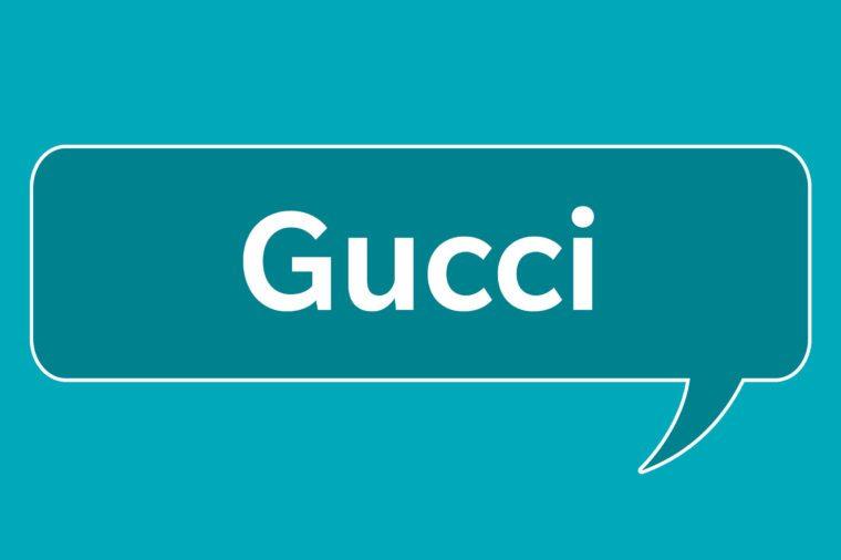 slang words gucci