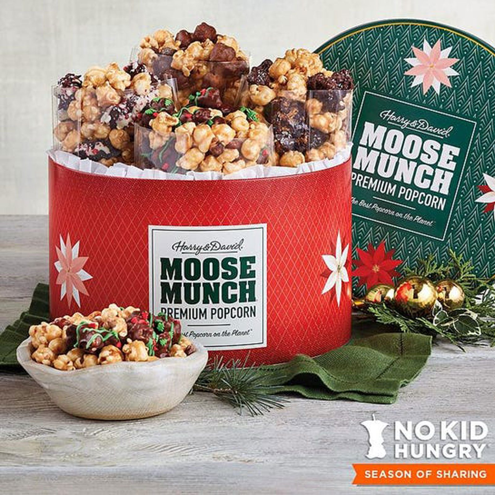Harry & David Moose Munch Popcorn Holiday Tin