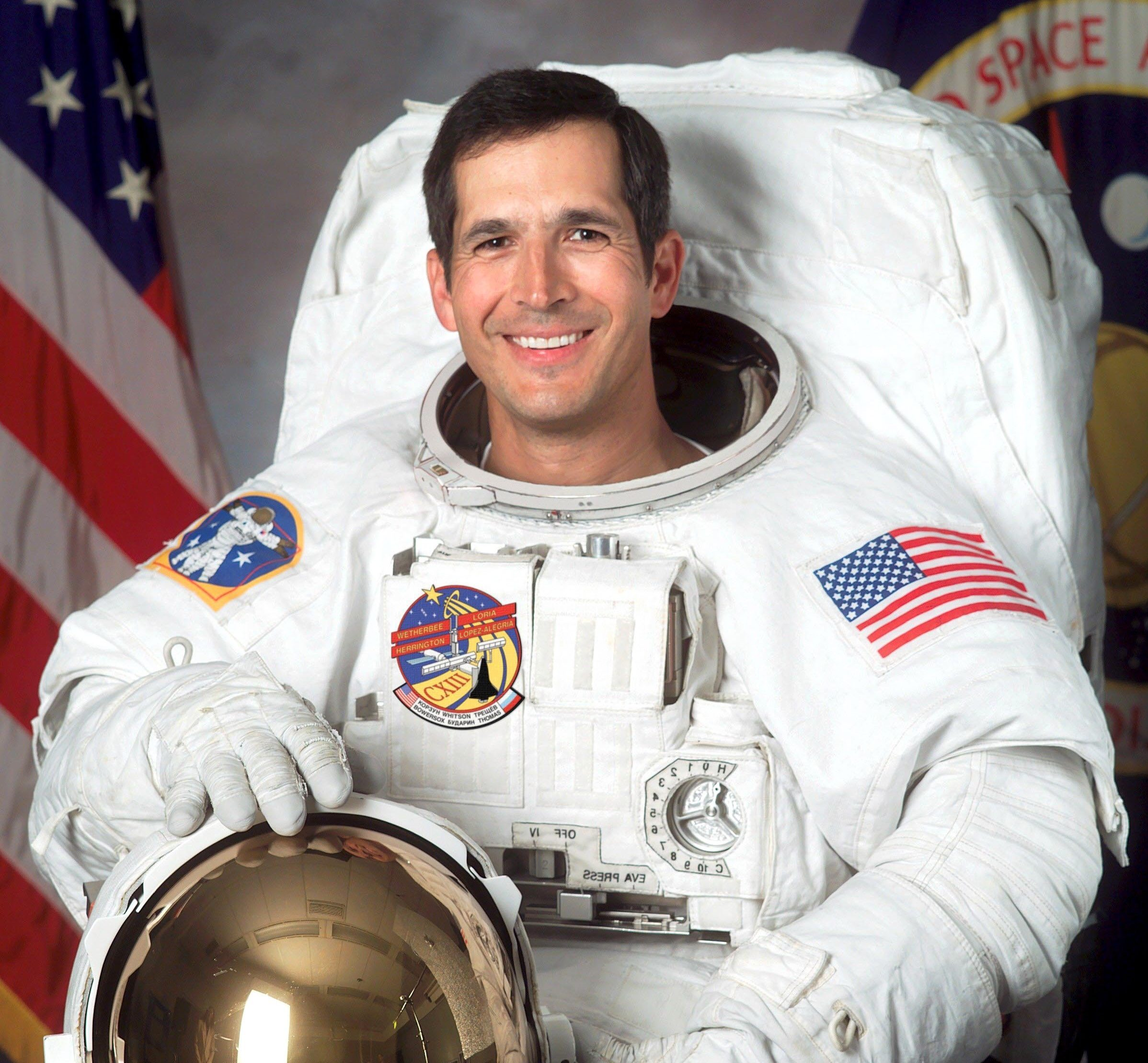 Mandatory Credit: Photo by Shutterstock (395779e) John B Herrington - 02 Apr 2002 INTERNATIONAL SPACE STATION MISSION STS 113 - SEP 2002